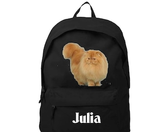bag has black Persian personalized with name