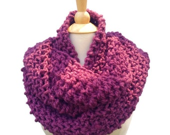 Purple oversized scarf, oversize chunky scarf, chunky winter cowl, eggplant purple scarf, crochet scarf for her, mothers day gift
