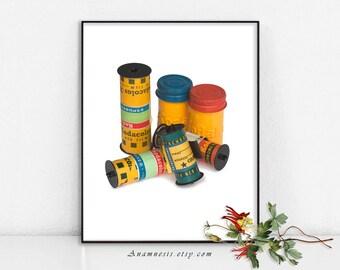 VIEUX FILM - digital download - image imprimable photographie vintage par anamnèse pour des tirages ou transférer à totes, des chemises, des cartes, des oreillers etc..