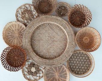 Vintage Collection of Baskets & Trivets • Set of 11