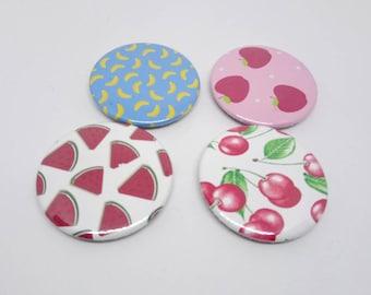 Lot 4 37mm fridge magnets