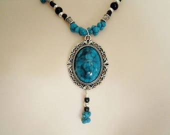 Turquoise Necklace, boho jewelry bohemian jewelry gypsy jewelry new age bohemian necklace hippie necklace boho necklace gypsy necklace