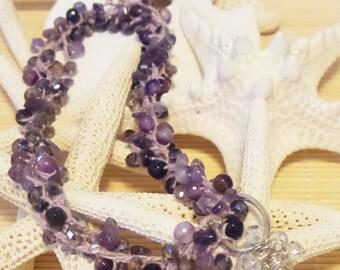 Crochet transitional necklace