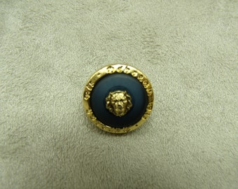 Acrylic button - 17 mm - dark blue