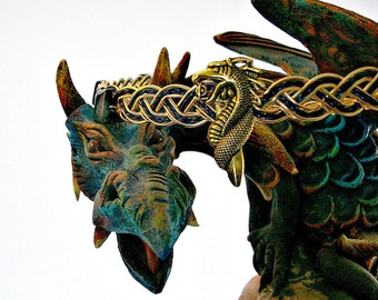Dragon Lord Circlet, Dragon Lady Tiara, Gold and Lapis