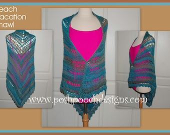 Ladies Crocheted shawl/wrap, lightweight, non-wool, colorful!