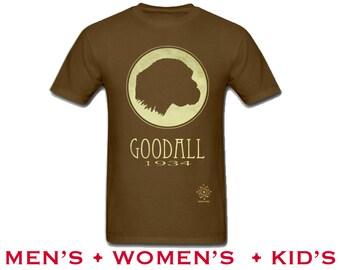 Jane Goodall Tshirt. Rock Star Scientist Shirt, Anthropology Illustration, Monkey Chimpanzee, Anthropologist Primatologist, Women in Science