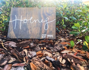 Custom painted calligraphy wood sign