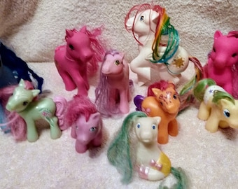 Vintage 1986 My Little Pony Lot Of 10