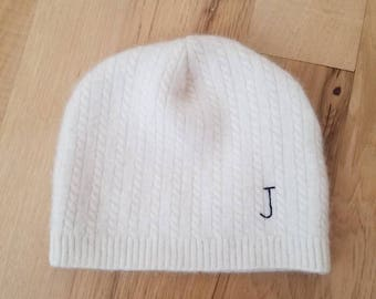Add an initial or monogram to your baby beanie.