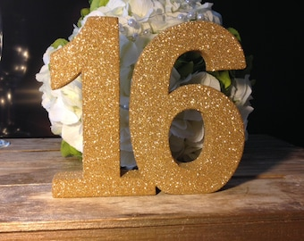 Sweet 16 birthday party decoration Glitter numbers Princess party decoration Luxury Sweet Birthday Party Anniversary