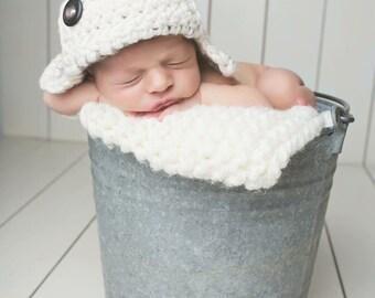 Baby Crochet Aviator Hat
