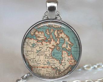 Canada map pendant, Canada map jewelry Canada jewellery Canadian map jewelry Canada map necklace key chain key ring key fob