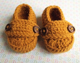 Baby crochet booties Baby shower gift Baby boots Gender neutral baby gift, Crochet baby shoes Baby loafers Unisex baby shoes New baby gift