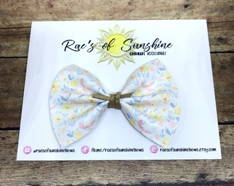 Floral // Springtime // shimmery // faux leather // baby bows // baby headbands // nylon headbands // baby // toddler // bows