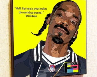 Snoop Dogg Poster Pop Art Painting Decor Print Wall Canvas Decals