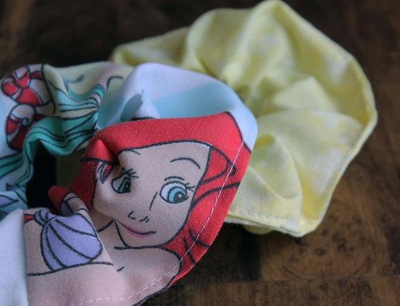 Disney Little Mermaid Hair Scrunchie SET
