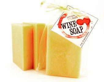 Wine Soap- Pinot Grigio Wine Soap - White Wine Soap, Wine Lover, Gift for Her, Bachelorette, Bridesmaid Gift, Wedding, Stocking Stuffer