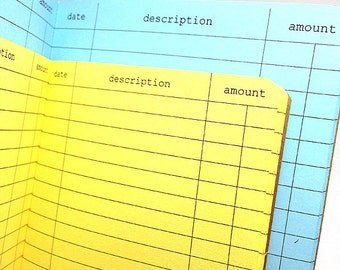 EXPENSE TRACKER Traveler's Notebook Insert  - Choose from 22 colors - 8 sizes available