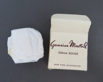 Germaine Monteil Rouge - Vintage Cream Rouge, Florida Red, New Old Stock, Collector's Makeup