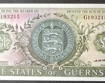 Guernsey P45b Pound XF