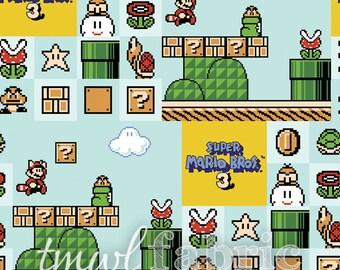 Woven Fabric - Nintendo Super Mario Brothers 3 - Fat Quarter Yard +