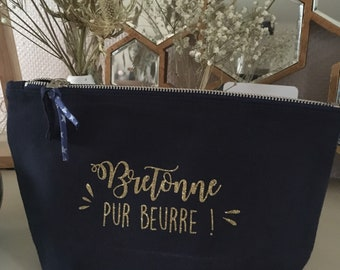 Une jolie trousse marine en coton bio pour les bretonnes