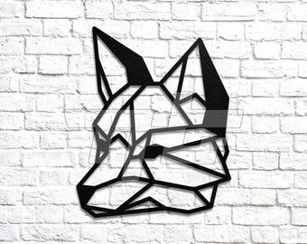 Geometric Fox Head