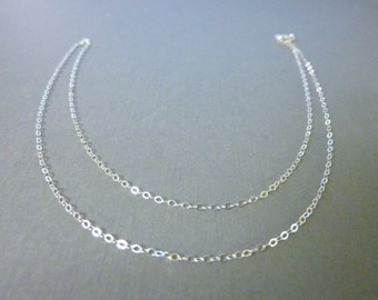 """Sterling Silver cable chain - 18"""" - UPGRADE"""