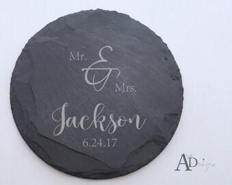 Personalized Slate Coasters Engraved Personalized Coaster Custom Coaster Personalized Wedding Gift Housewarming Gift Couple Gift 3