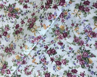 Moda Petite Flowers 1995, 5/9 Yard Cotton Fabric, Floral Cotton Fabric Remnant Cotton, Quilt Cotton, Craft Fabric, Vintage Cotton Fabric