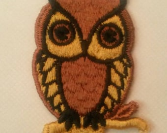 1 Brown OWL Applique Animal Patch Sew On