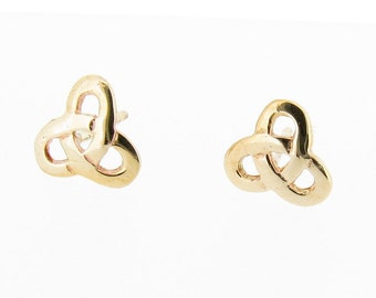 9ct Yellow Gold Trinity Knot Stud Earrings
