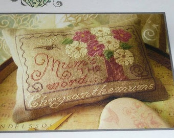 Primrose Needleworks Mum's The Word Chrysanthemums  Cross Stitch Pattern