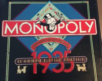 "MONOPOLY!  Rare Metal Box 1985 ""Commemorative Edition"" Celebrating 50 Years of Monopoly!"