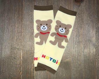Leg Warmer // Bear Design Baby Leg Warmers // Toddler Leg Warmer // Infant Leg Warmer // Arm Warmer // Baby Accessories // Boys or Girls