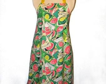 Ladies Apron Watermelons Reversible Baking Cooking Entertaining