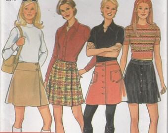 Skirt Pattern Button Side Pleat Pockets Misses Size 6 - 8 - 10 - 12 - 14 - 16 uncut New Look 6538