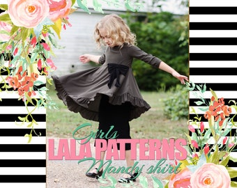 LALA GIRLS Mandy Shirt PDF Sewing Pattern Digital Modest