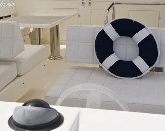 SALE -20% Lifebuoy Pillow Nautical Art Sailor Style! Nautical Chic! Classic Design! Maritime home decor. Spectacular gift for sailor!