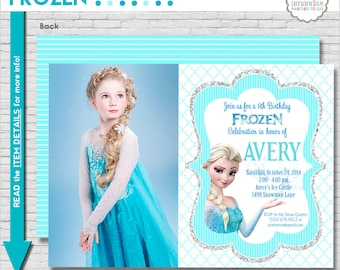 Frozen Birthday Invitation Printable | Frozen Party Invitation | Frozen Invitation | Frozen Elsa Invitation | Amanda's Parties To Go