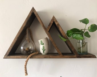 Mountain Triangle Shelf - Perfect Geometric Shelves for your Home