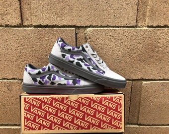 Custom purple camo vans