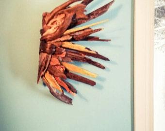 Driftwood Angel wing, Driftwood Art, Driftwood Sculpture, Wall Art, Reclaimed Driftwood, Driftwood Wing