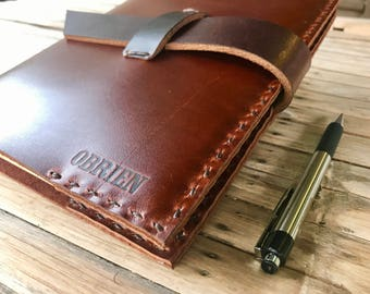 Personalized Leather Journal Notebook // Dark Brown Leather Journal // Personalized Leather Journal // Leather Journal Cover