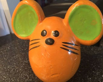 Vintage Childrens Bank 1970s Russ Berrie Ceramic Mouse Bank