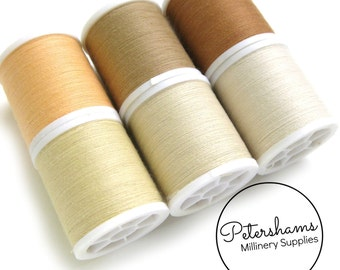 Beige Thread Collection - 6 Shades of Polyester Thread on 100 yard Spools