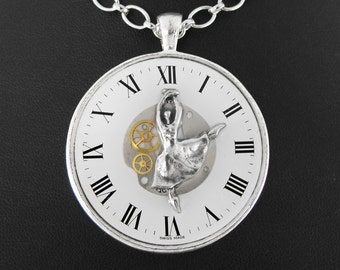 Clockwork Dancing Steampunk Necklace - Rythm Is a Dancer by COGnitive Creations