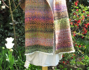 japanese sunset - a hand-woven shawl