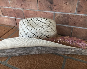 Rose Gold Hat feather